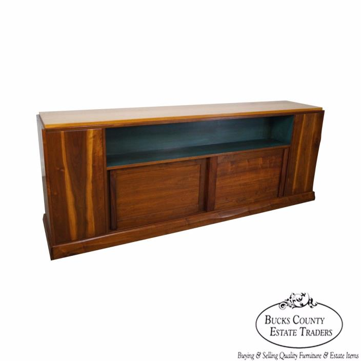 Robert Whitley New Hope Studio Crafted Walnut Room Divider Bookcase Cabinet