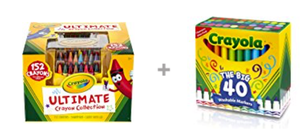 Crayola Ultimate Crayon Collection;  152 Colors, +Ultra-Clean Washable markers