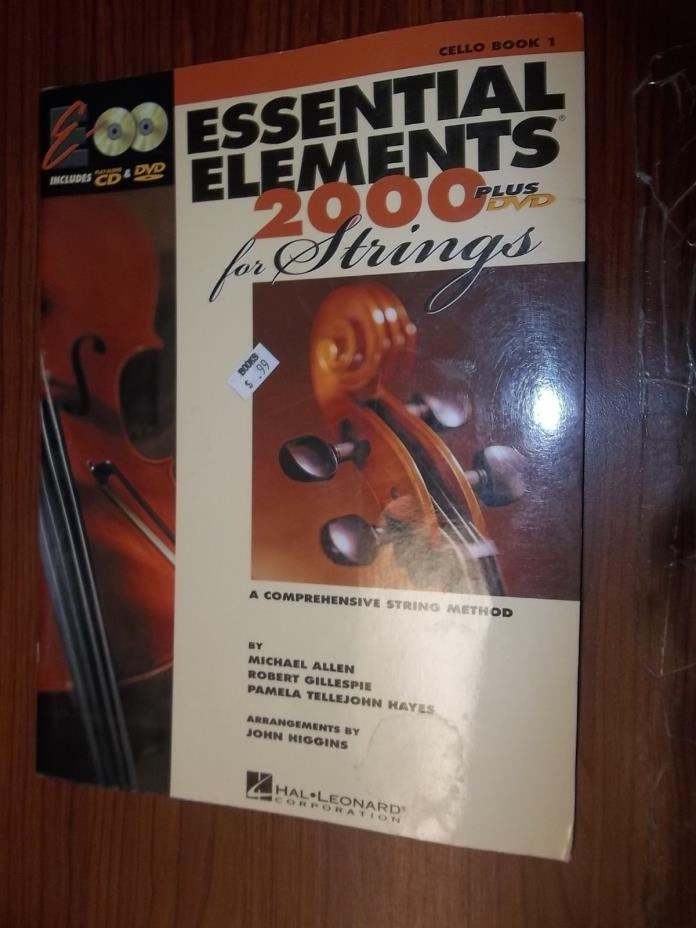 Essential Elements 2000 For Strings, Cello Book #1 with DVD, Hal Leonard Corp