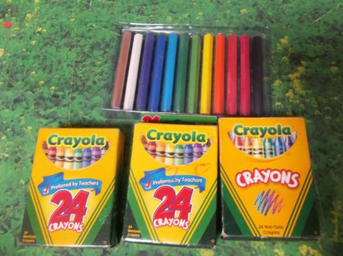 C23 Lot of 4 Packs BOXES of Crayola Crayons
