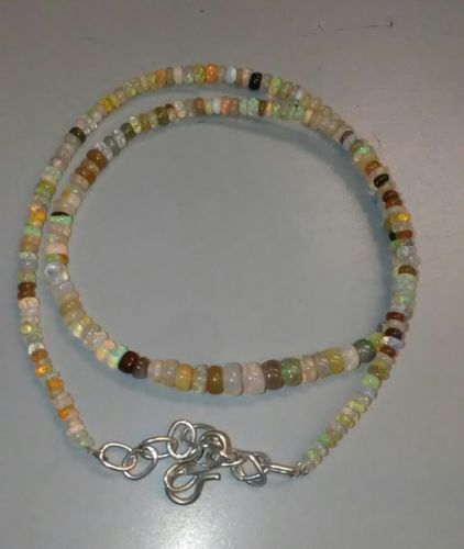 42ctw Opal Gemstone Necklace 2mm to 5mm 16