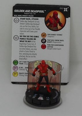 WizKids Heroclix Deadpool and X-Force  063 Golden Age Deadpool