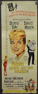 PLEASE DON'T EAT THE DAISIES 1960 ORIG. 14X36 MOVIE POSTER  DORIS DAY