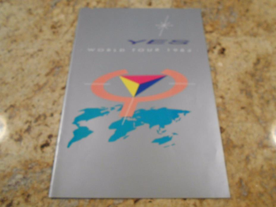 YES 1984 90125 WORLD TOUR Concert Program Programme Book