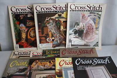 Lot of 15 Cross Stitch & Country Crafts & For the Love of Cross Stitch Magazines