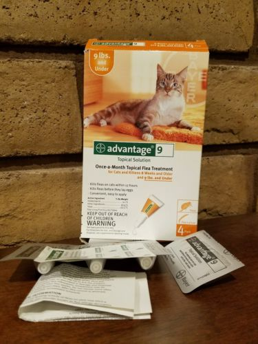 Bayer Advantage 9 for Cats 0-9lbs Orange 4-Month Supply