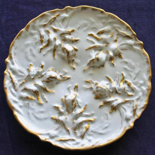 Antique Theodore Haviland Limoges Oyster Plate - Unusual Design