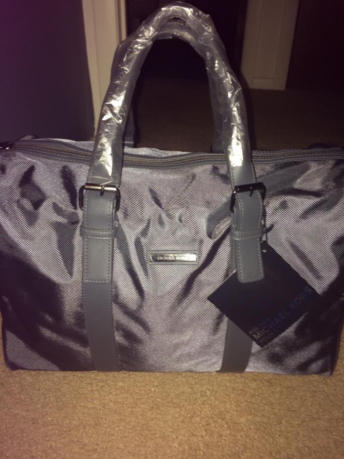 Michael Kors Gray Overnighter Weekender Travel Bag