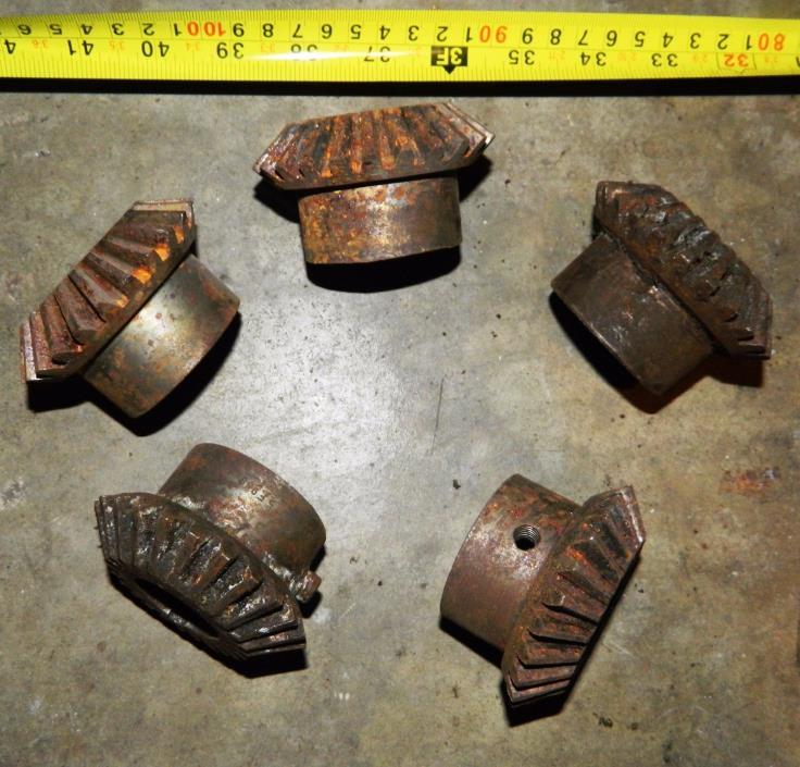 Vintage Metal Bevel Gear Wheel Pulley Sprocket Antique Industrial Steampunk Lamp