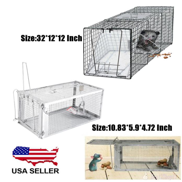 Animal Trap | Rodent Raccoon Skunk Poss Hamster Mouse Mice Humane Live Trap Cage