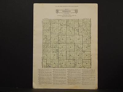 Minnesota Swift County Map Kerkhoven Township 1931 Y6#60