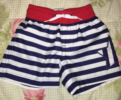 Infant Boy Swimming Trunks Gymboree 0-3 Mos  NICE 4th July Independence Day