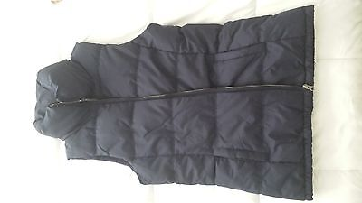 old navy fitted puffer vest small tall navy blue