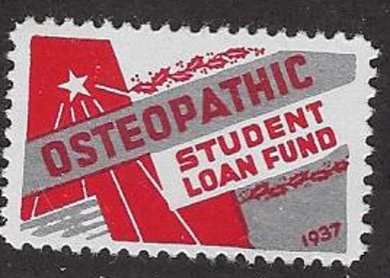 USA Poster Stamp: 1937 Osteopathic Student Loan Fund Christmas Stamp (dw330)