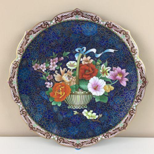 Vintage Chinese Cloisonné Plate - 12