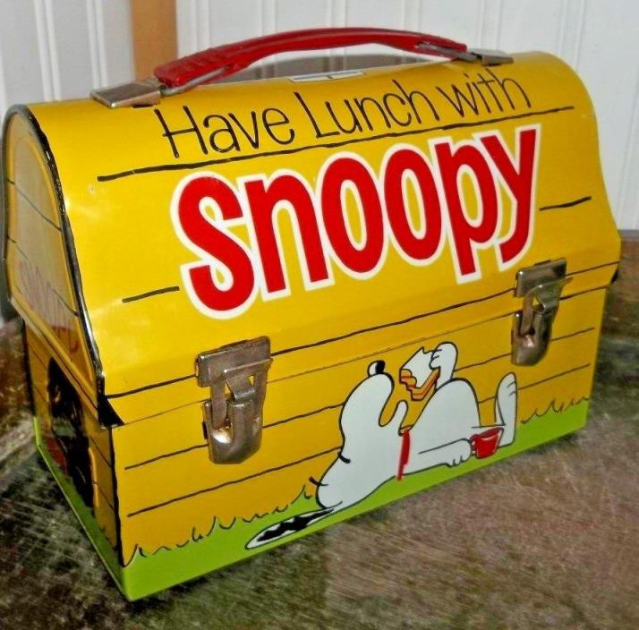 Near Mint RARE 1968 Have Lunch W/ Snoopy Metal Dome Lunch Box By Thermos Brand
