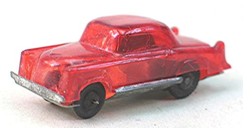 Vintage Plastic Friction Toy Car - Clear Red