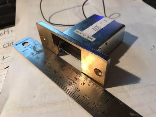 Electric Strike Brass Tone Fail Secure 12vDC