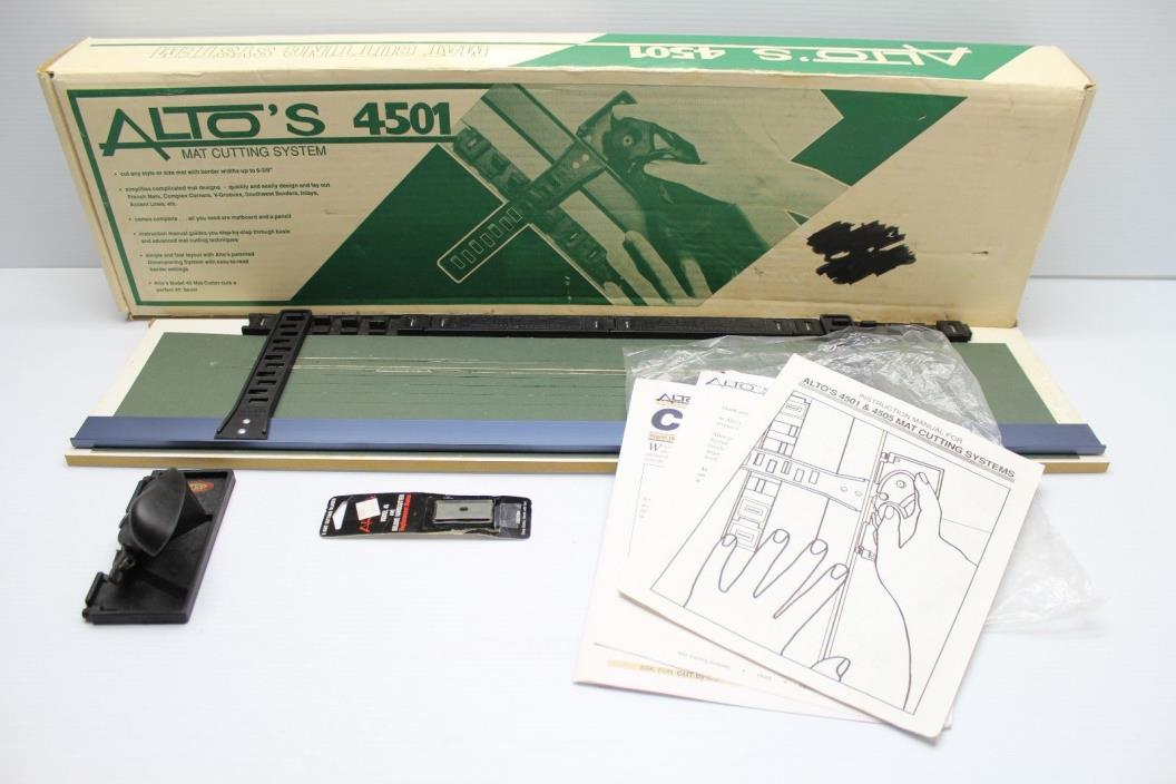 ALTO'S 4501 MAT CUTTING SYSTEM - COMPLETE IN BOX - MANUAL NEW BLADES MADE IN USA