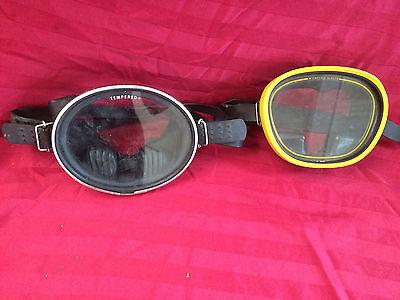 two scuba snorkel dive masks