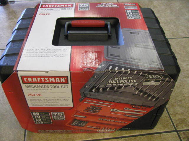 Craftsman Mechanics Tool Set 254 Pcs. with 75 Tooth Ratchet #950254
