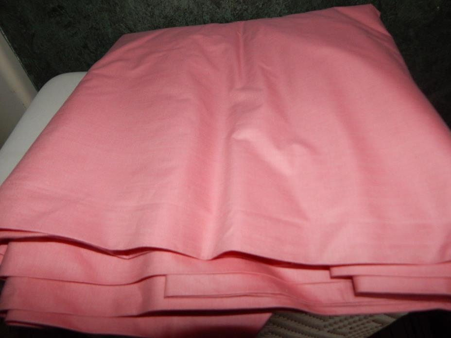 Vintage Hot Pink Heavier Cotton Fabric Yards and Yards!