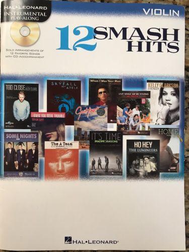 12 Smash Hits For Violin Hal Leonard