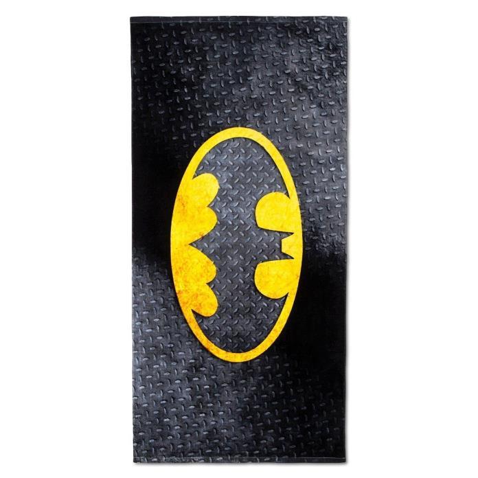 Batman Beach Bath Towel 100% Cotton 28 x 58 DC Comics Bat Sign