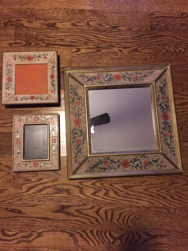 MIRROR, Picture Frame, and Candle Tray Set from Marshall Field's