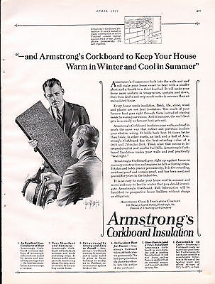 1925 Armstrong Corkboard Insulation ad --=834