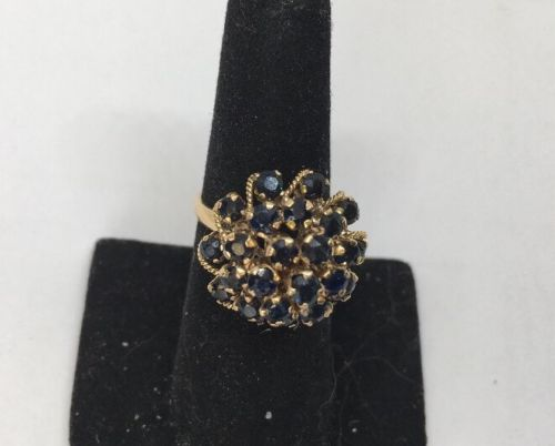 Antique Victorian 14k Rose Gold Sapphire Ring Spectacular