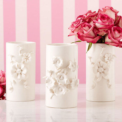 Two's Company Capo-Di-Monte Inspired Vase Style: Two Flowers Smooth Petals