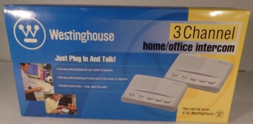 NEW IN BOX Westinghouse WHI-3C 3 Channel Home Office Intercom Set of 2 - AWESOME