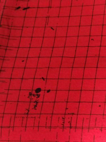 Shaun White Full Queen Size Flat Sheet Red Black Paint Splatter Graphic Target