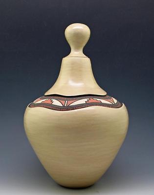 B.J. Fragua - Jemez - Stone Polished Native American Sgraffito Pottery