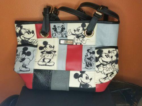 Walt Disney Mickey and Minnie Mouse Purse Handbag Bradford Exchange patchwork