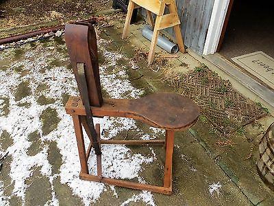 Antique Saddle Maker Harness Maker Stool Bench Lacing  Vice