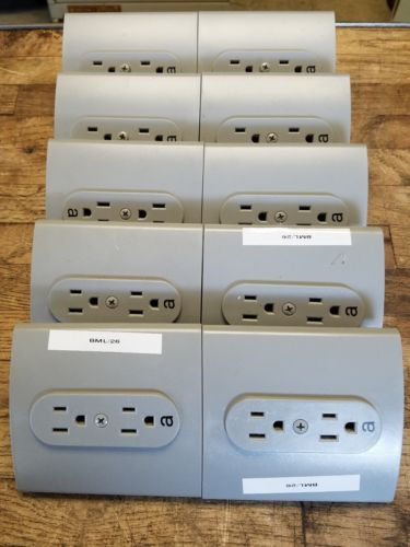 10-Herman Miller Resolve style, panel system type 1 duplex outlets R1311.A