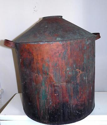 Antique Moonshine Copper Still Tank Part