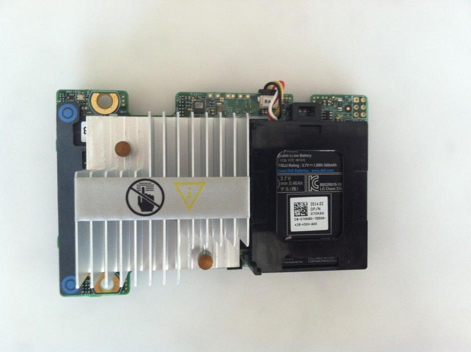 Dell PERC H710 MINI 5CT6D 05CT6D FRH64 RAID Controller w/ 512MB Battery 070K80