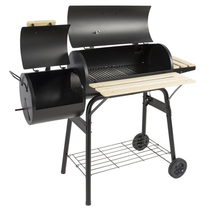 Best Choice BBQ Charcoal and Meat Smoker Backyard Patio Grill Anti-rust Steel