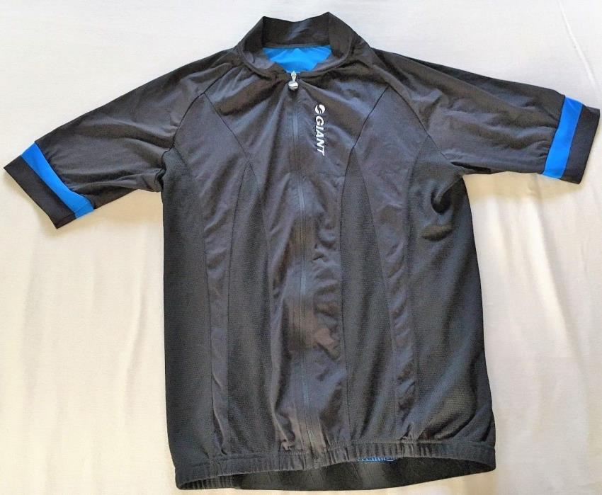 Giant Womens SS Cycling Jersey Road Bike Black Size L