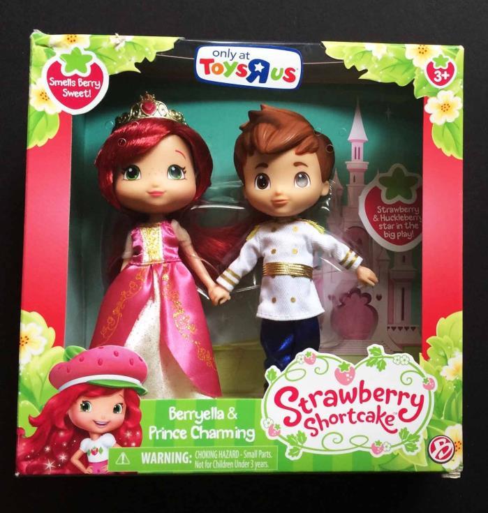 Strawberry Shortcake Berryella and Prince Charming Dolls New