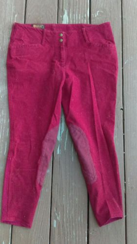 32R Red Ariat Brittany breeches