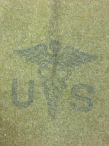 Korean War Era 100% Wool US Military Medical Blanket Dated 1953 83x62