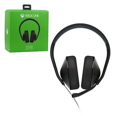Microsoft Xbox One Stereo Black Gaming Headband Headsets Mic & Adapter