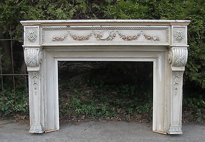 FRENCH  FIREPLACE SHABBY CHIC LOUIS XVI