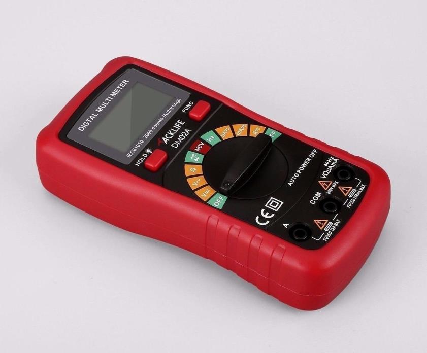 Tacklife DM02A Handheld Digital Multimeter Auto Ranging Multi Tester BEST PRICE.