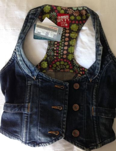 Miss Sixty Denim Cropped Vest