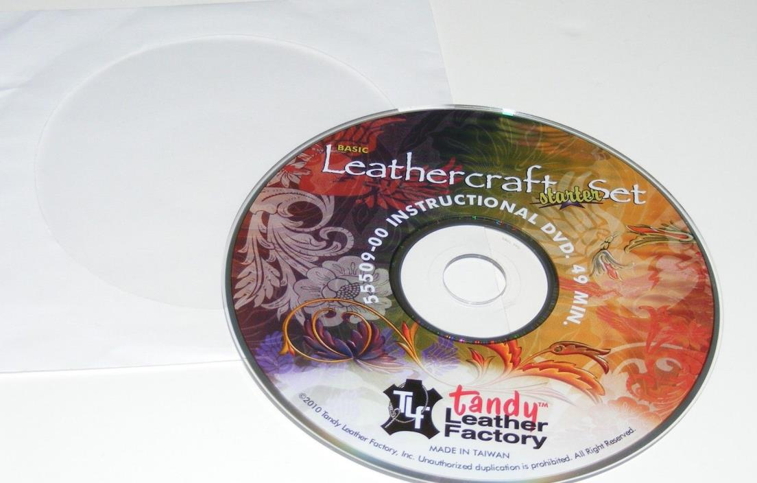 Tandy Leather Factory LEATHERCRAFT STARTER SET 55509-00 Instructional DVD ONLY!!
